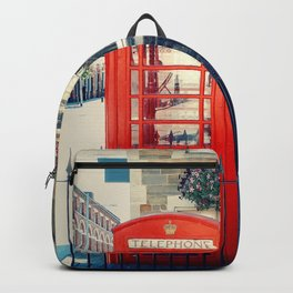Red phone booth Backpack