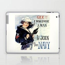 Vintage U.S. Navy Recruitment Poster Laptop & iPad Skin