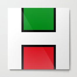H stands for HELL - italian - Living Hell Metal Print