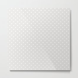 Dots (White/Platinum) Metal Print