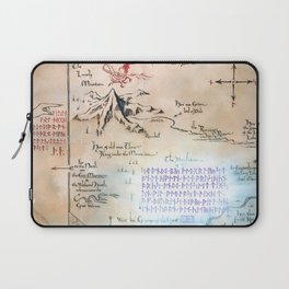 Map of the LonelyMountain with MoonRunes Laptop Sleeve