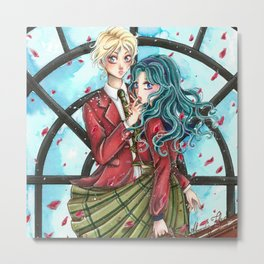 Haruka and Michiru - Sailor Moon tribute Metal Print