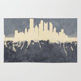 Pittsburgh Pennsylvania Skyline Rug