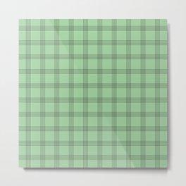 Black Grid on Pale Green Metal Print