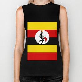 Uganda Flag Biker Tank