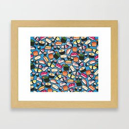 Sushi Blue Framed Art Print