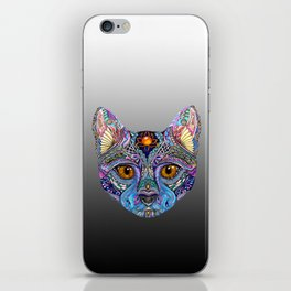 Mystic Psychedelic Cat iPhone Skin