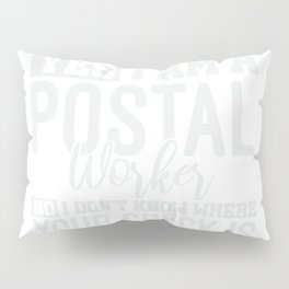 Mail Lady Gift Funny Postal Worker Pillow Sham