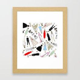 Audrey Hepburn Fashion (Scattered) Framed Art Print