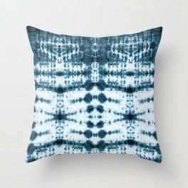 Teal Tribe Shibori Throw Pillow