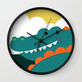 Crocodile rock Wall Clock