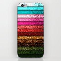 Chic Leather Glitter Stripes iPhone & iPod Skin