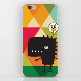 Woot! (Happy Dinosaur) iPhone Skin