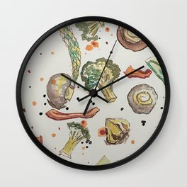 roasted vegetables Wall Clock