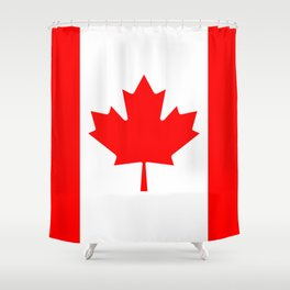 Canadian National flag, Authentic color and 3:5 scale version Shower Curtain