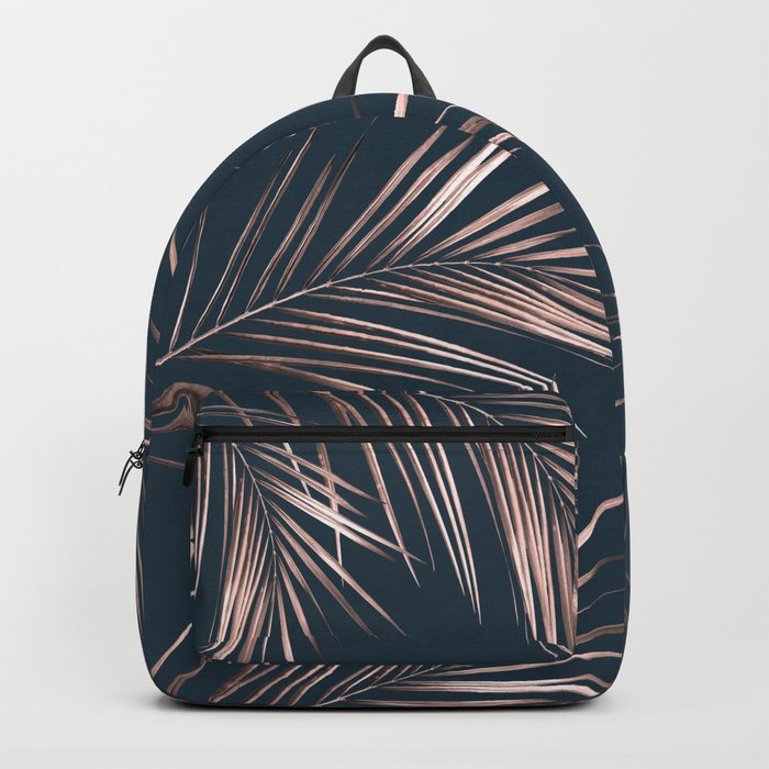 Rose Gold Palm Leaves 4 Backpack