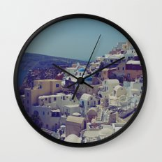 Oia, Santorini, Greece II Wall Clock