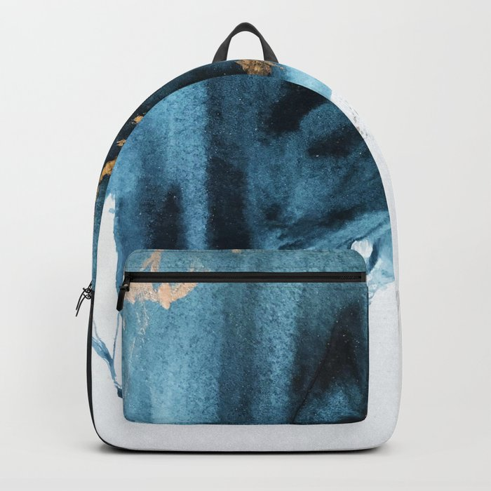 Sapphire and Gold Abstract Rucksack