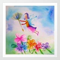 Miss Butterfly Art Print