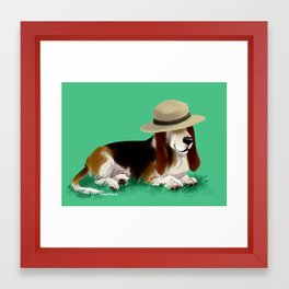 Spud the Basset Framed Art Print
