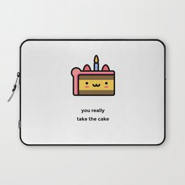 JUST A PUNNY BIRTHDAY CAKE JOKE! Laptop Sleeve