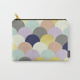 Colorful and gold fish scales Carry-All Pouch