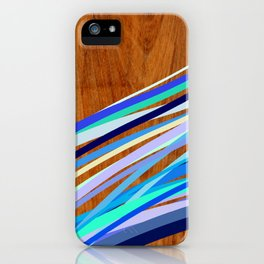 Wooden Waves Blue iPhone Case