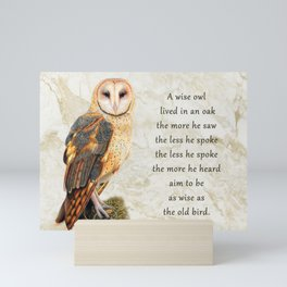 Marbled Wise Sage  Mini Art Print