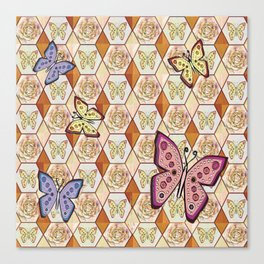 Butterfly Honeycombs Canvas Print