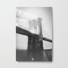 NEW YORK CITY V / Brooklyn Bridge Metal Print