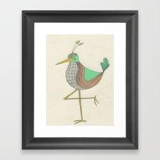 Northern Vert Pale Framed Art Print