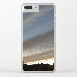 Sky Lines Clear iPhone Case
