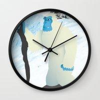 yeti Wall Clocks featuring Yeti by twelve:45