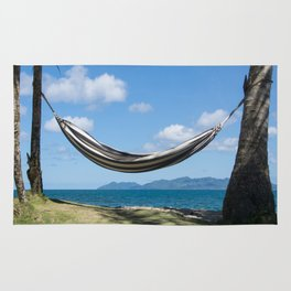 Hammock in the tropics Rug
