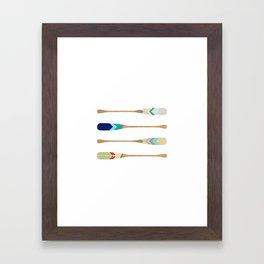 Oars Framed Art Print