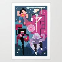 steven universe Art Prints featuring Steven Universe by Michelle McCammon