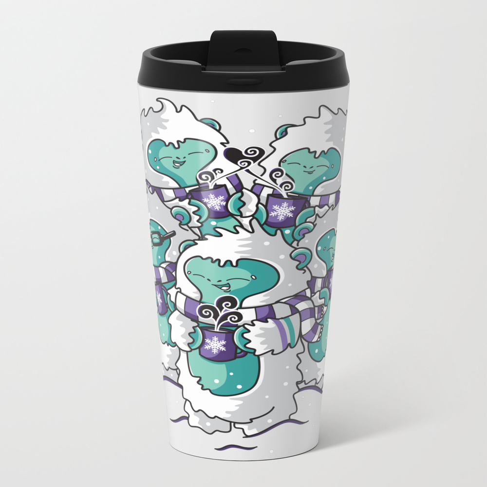 Yetis Loves Hot Cocoa Metal Travel Mug by Dothuylinhe MTM7702486