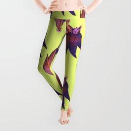 bat magical alien pattern Leggings