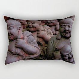 Laughing Buddhas Rectangular Pillow