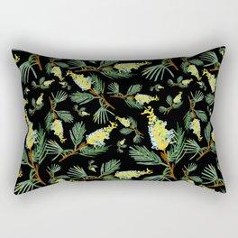 Australian Native Floral Pattern - Beautiful Grevillea Rectangular Pillow