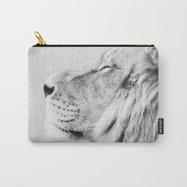 Lion Portrait - Black & White Carry-All Pouch