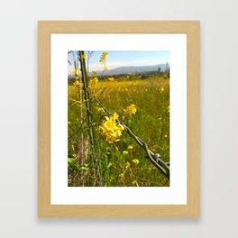 Touching Yellow Framed Art Print