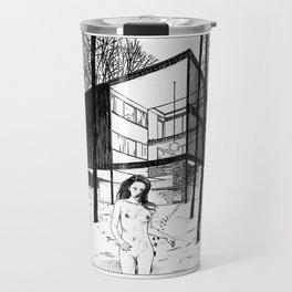 asc 386 - Le bain nordique (The cold dip) Travel Mug