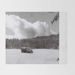 Lonely Truck Throw Blanket