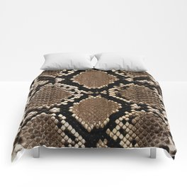 Faux Python Snake Skin Design Comforters