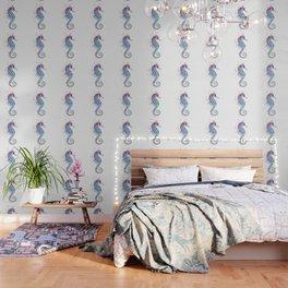Seahorse: Purple Wallpaper