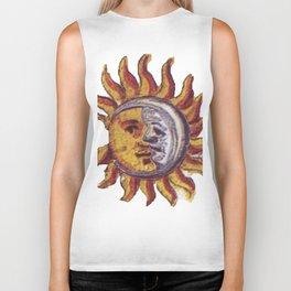 Sun and Moon Face Painting Biker Tank