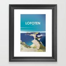 Alone In Nature - Deep Blue Deep View Framed Art Print