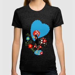 Portuguese Rooster of Luck with blue dots T-shirt