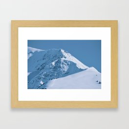 Winter Mountains in Glacier Blue - Alaska Framed Art Print